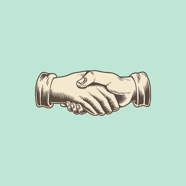Illustation of a handshake Free Vector