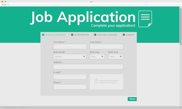 Illustation of job application Free Vector