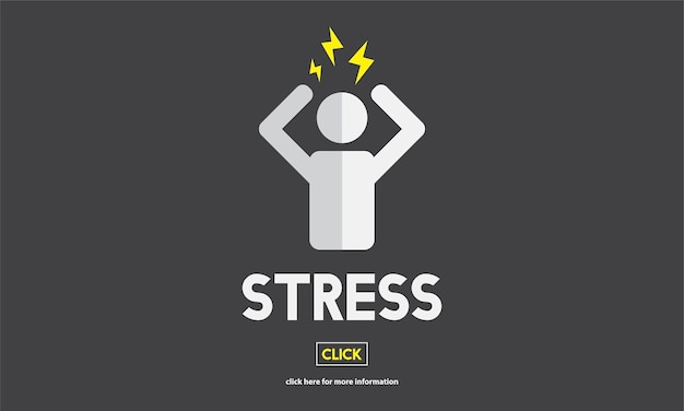Illustation of stress emotion Free Vector
