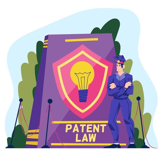 特許法の図解概念 無料ベクター