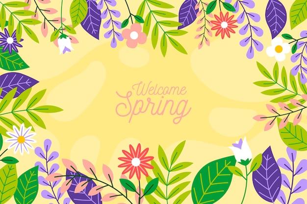 図解花の春の壁紙 無料ベクター