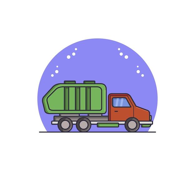 Camion della spazzatura illustrato Vettore gratuito