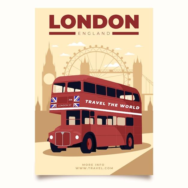 Иллюстрированный шаблон постера для путешествий Бесплатные векторы