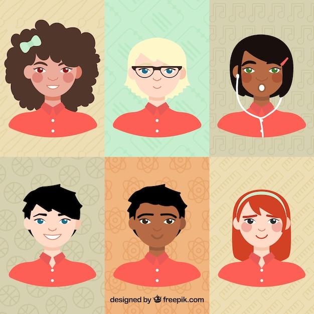 Illustrated teenagers