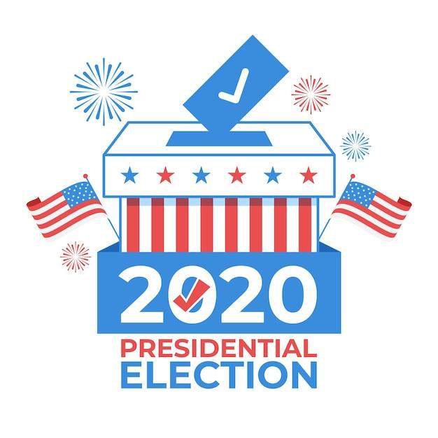 Иллюстрированная концепция президентских выборов в сша Premium векторы