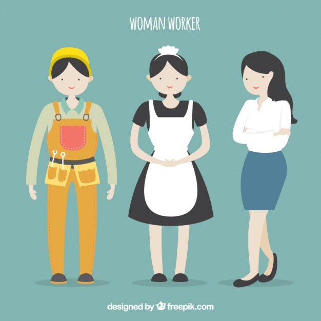 Illustrated women worker