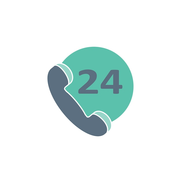Illustration of 24 hours customer support Free Vector