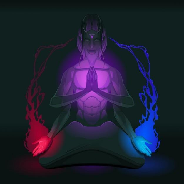 Illustration about meditation