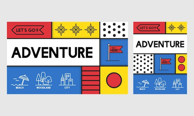 Illustration of adventure concept Free Vector