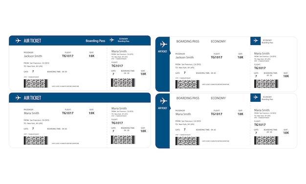 Illustration of airplane ticket Free Vector
