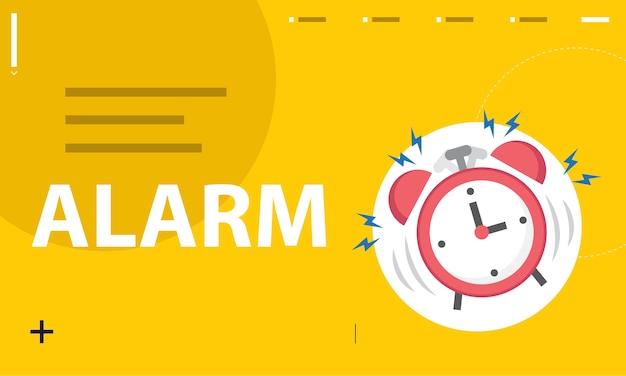 Illustration of alarm clock Free Vector