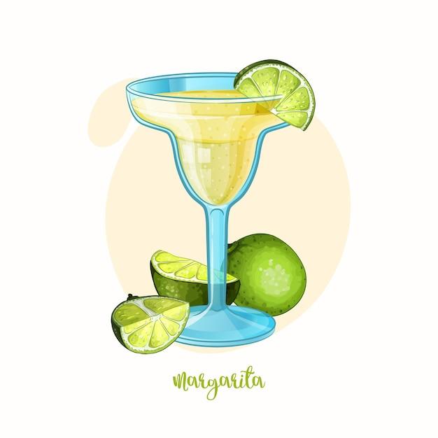 Illustration of alcohol cocktail margarita cocktail Premium Vector