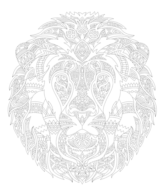 Illustration of animal adult coloring page Free Vector