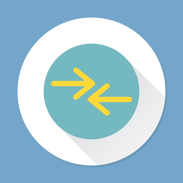 Illustration of an arrow sign Free Vector
