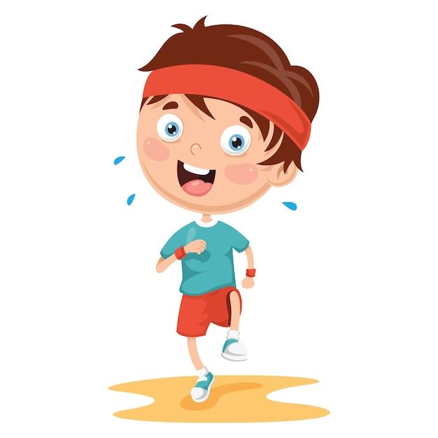 Illustration of athlete kid Premium Vector