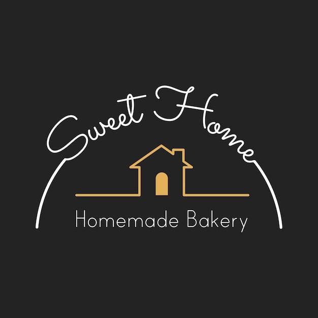 Illustration of bakery house stamp banner Free Vector