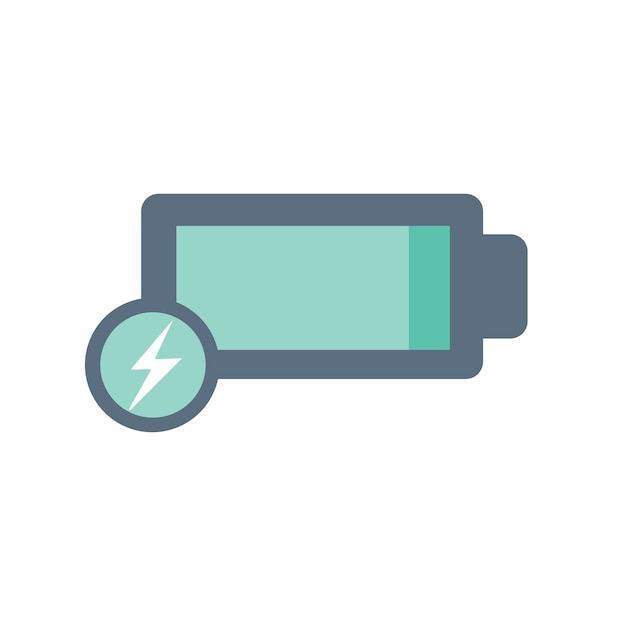 Illustration of battery icon Free Vector