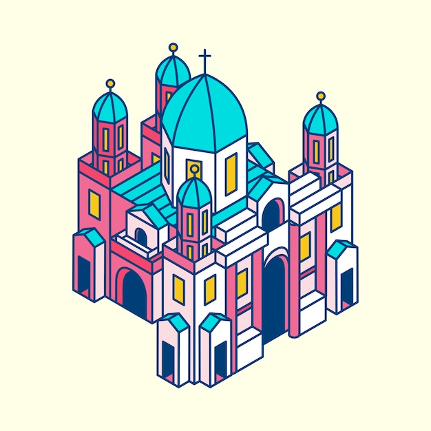 Illustration of berlin museum in germany Free Vector