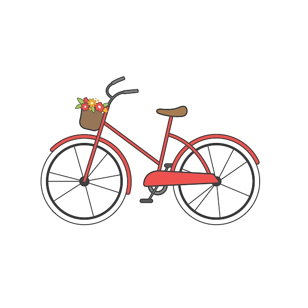 Illustration of bicycle Free Vector