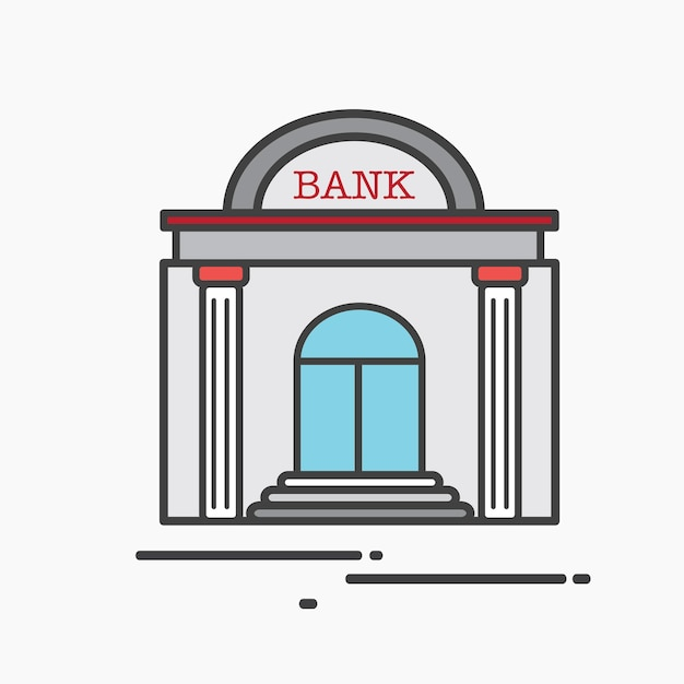 Illustration of a big bank Free Vector