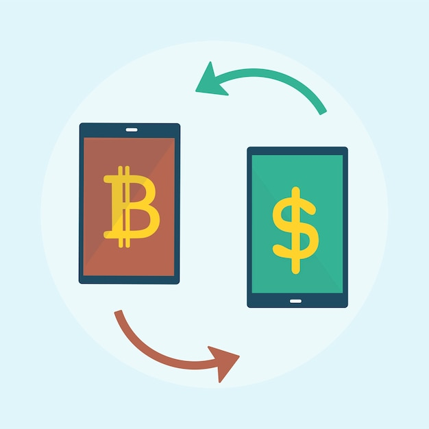 Illustration of bitcoin concept Free Vector
