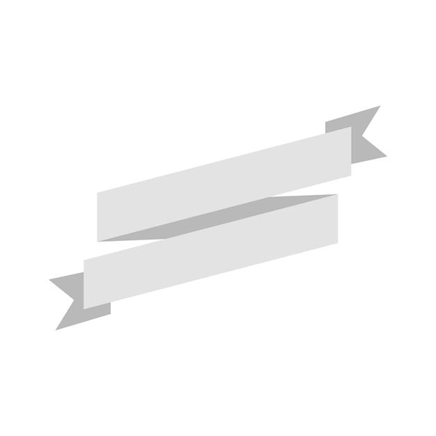 Illustration of blank ribbon banner | Free Vector