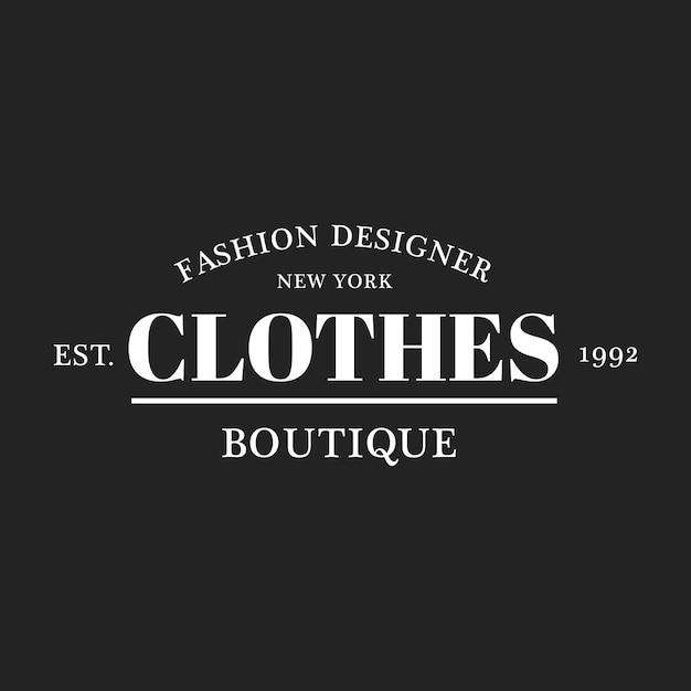 Illustration of boutique shop logo stamp banner Free Vector