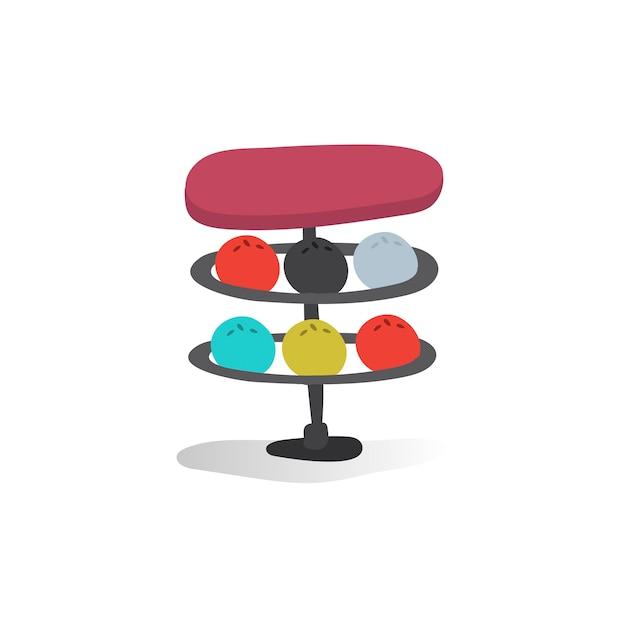 Illustration of bowling balls Free Vector