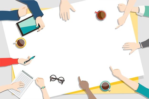 Illustration of brainstorming teamwork Free Vector