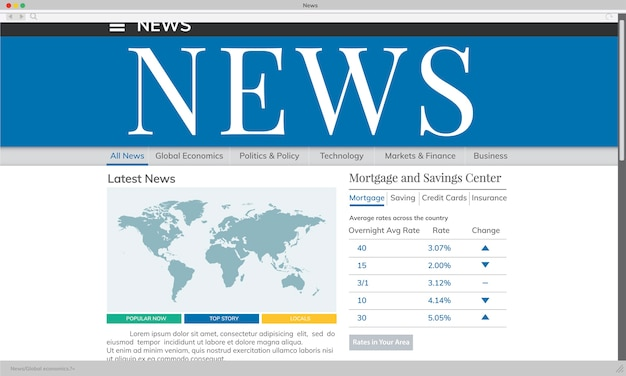 Illustration of breaking news Free Vector