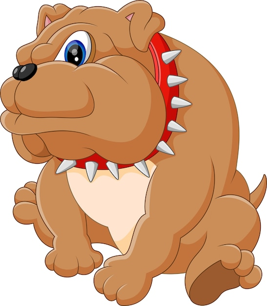 Illustration of bulldog cartoon Premium Vector