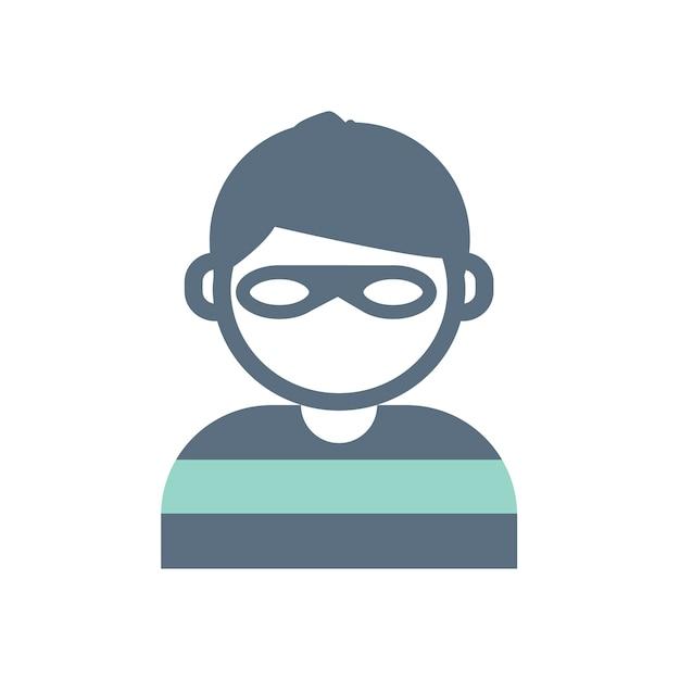 Illustration of burglar Free Vector
