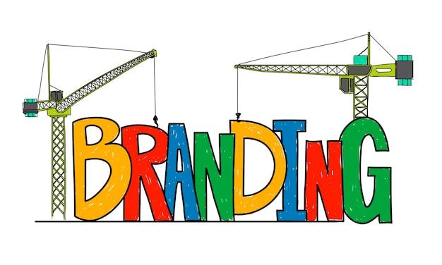 Illustration of business branding Free Vector