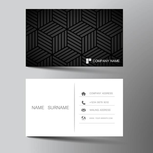 Illustration business card design Premium Vector