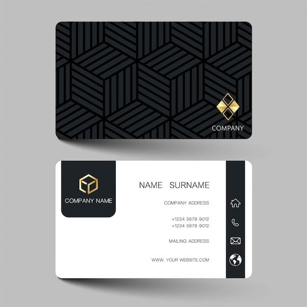 Illustration business card design. Premium Vector