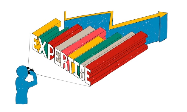 Illustration of business expertise Free Vector