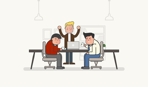 Illustration of business people avatar Free Vector