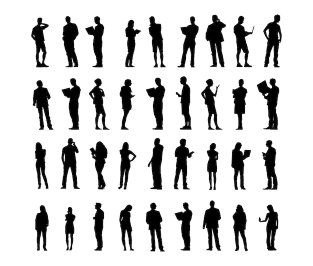 Illustration of business people Free Vector