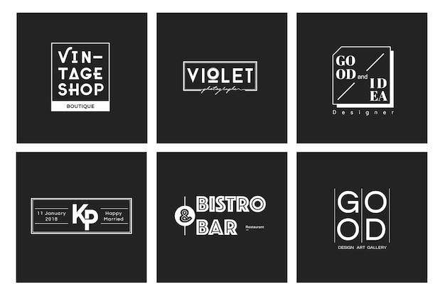 Illustration of business shop logo stamp banner Free Vector