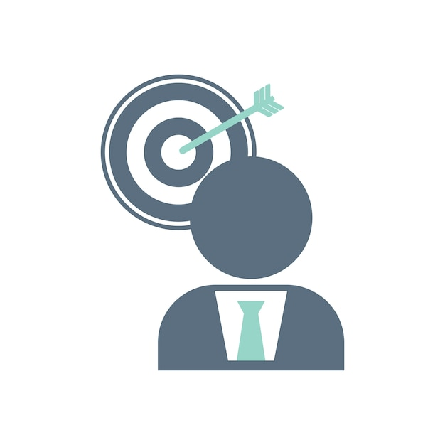 Free Vector Illustration Of Business Target Icon Audience, targeting, audience targeting, target market, target audience, optimization, marketing icon. free vector illustration of business target icon