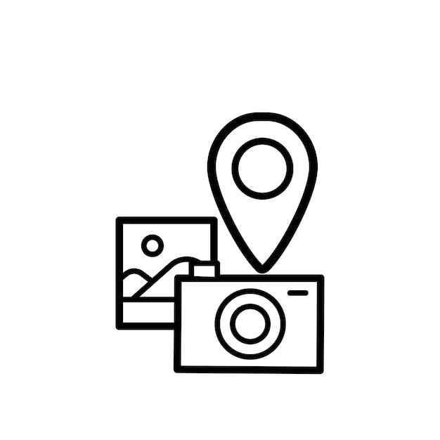 Illustration of camera icon Free Vector