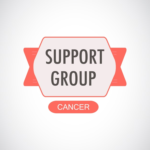 Illustration of cancer support group Free Vector