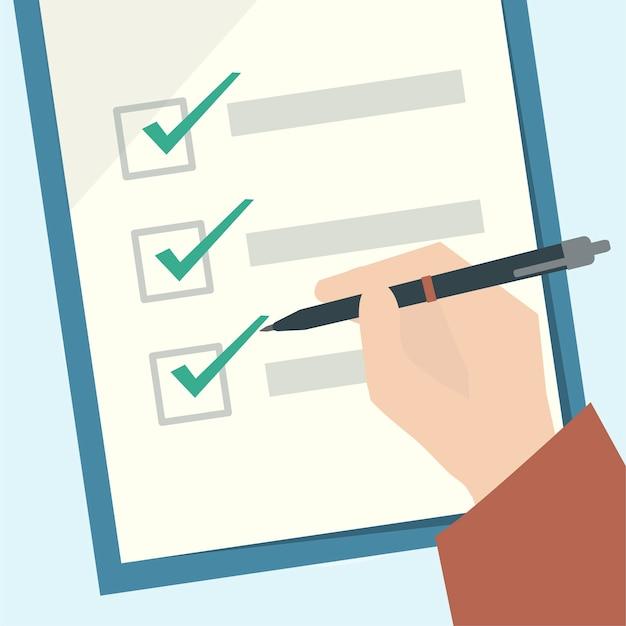 Illustration of a checklist clipboard Free Vector