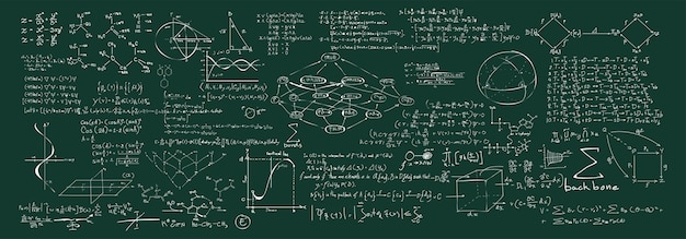 Illustration of chemical formulas Free Vector