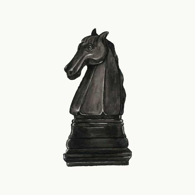 Illustration of a chess piece Free Vector