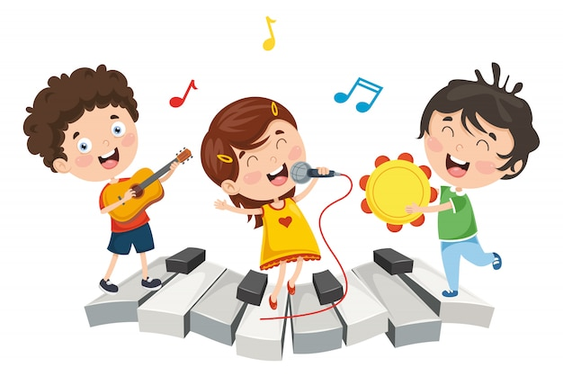 Illustration of children music Premium Vector