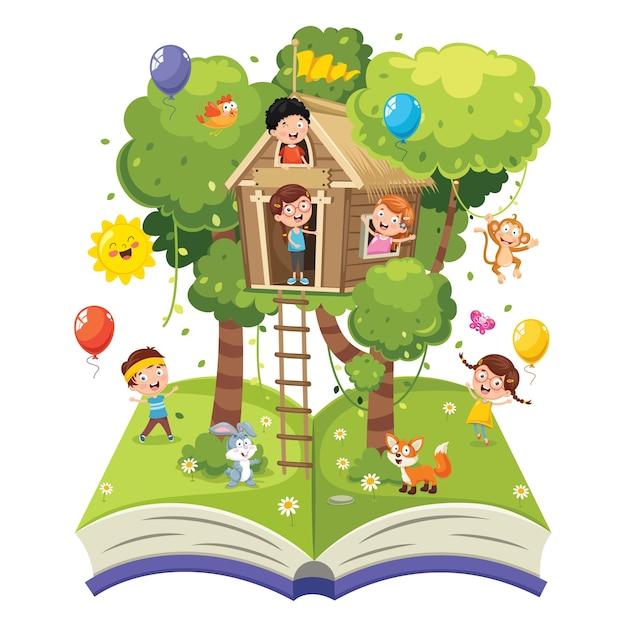 Illustration of children Premium Vector