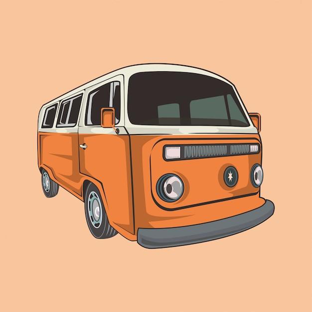 Illustration of a classic camper van Premium Vector