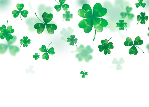 Illustration of clover background Free Vector