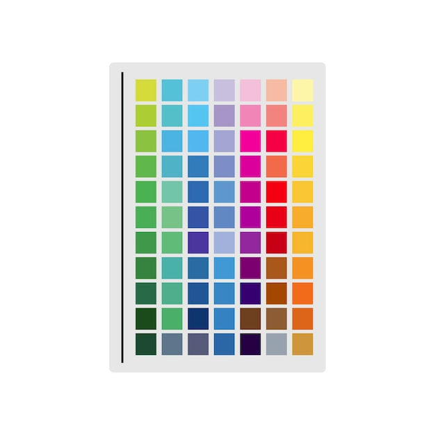 Illustration of color swatch Free Vector